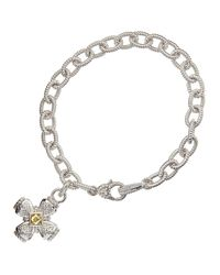 Judith Ripka - Metallic Sapphire Canary Crystal Maltese Cross Bracelet - Lyst