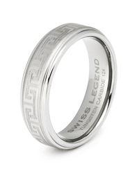 Swiss Legend | Gray Men's Tungsten Carbide Ring | Lyst