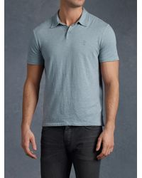 John Varvatos - Blue Peace Polo for Men - Lyst
