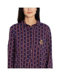 Ralph Lauren - Purple Stripes & Crowns Sleep Shirt - Lyst