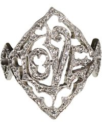 Cathy Waterman | Metallic Love Ring | Lyst