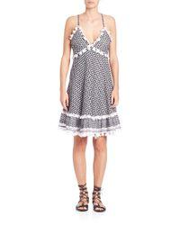 Dodo Bar Or - Black Dalal Houndstooth Cotton Dress - Lyst