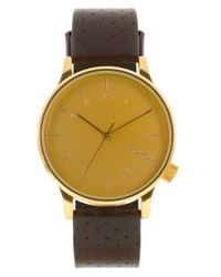 Komono | Brown Kom-w2001 Mens Strap Watch for Men | Lyst