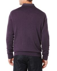 Perry Ellis | Purple Knit V-neck Sweater for Men | Lyst