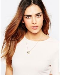 ASOS | Metallic Floating Pearl Necklace | Lyst