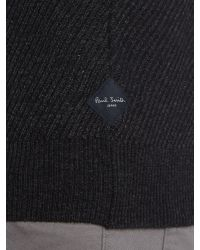 Paul Smith | Gray Crew Neck Chunky Twill Knitted Jumper for Men | Lyst