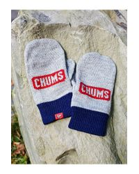 Chums - Gray Knit Mitten - Lyst