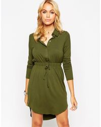 ASOS - Green Shirt Dress - Lyst