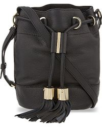 See By Chloé | Black Vicki Leather Bucket Bag | Lyst