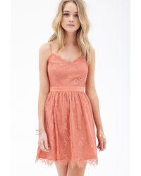 Forever 21 - Pink Eyelash Lace Dress - Lyst