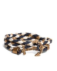 Brooks Brothers - Blue Kiel James Patrick Navy Leather Wrap Bracelet for Men - Lyst