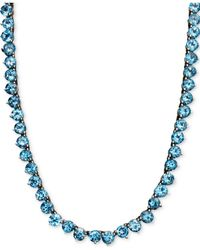 Macy's   Sterling Silver Necklace, Blue Topaz Necklace (45 Ct. T.w.)   Lyst