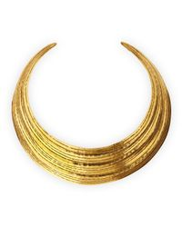Herve Van Der Straeten | Metallic Salome Gold Collar Necklace | Lyst