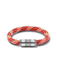 John Hardy | Station Bracelet On Multicolor Red Sailing Cord for Men | Lyst