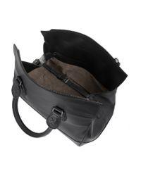 Bottega Veneta - Black Leather Shoulder Bag - Lyst