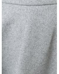MSGM - Gray Pleated Circle Skirt - Lyst