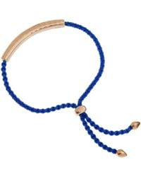 Monica Vinader - Blue And Rose Gold Vermeil Esencia Friendship Bracelet - Lyst