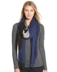Rag & Bone | Blue Colorblock Wool Scarf | Lyst