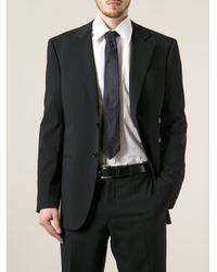 Giorgio Armani   Black Micro-Check Tie for Men   Lyst