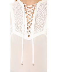The Kooples - White Hippy Top - Lyst