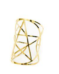 Pamela Love   Metallic Mini Pentagram Cuff In Gold   Lyst