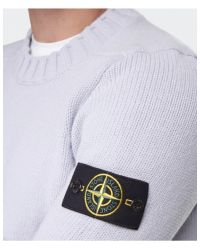 Stone Island - Gray Crew Neck Sweater for Men - Lyst