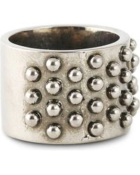 Alexander McQueen | Black Studded Silver-toned Ring for Men | Lyst