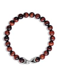 David Yurman - Metallic Spiritual Beads Bracelet With Red Tiger Eye - Lyst