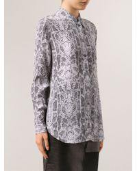 Equipment - Gray 'Reese' Blouse - Lyst