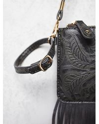 Free People - Black Vegan Tooled Wallet - Lyst