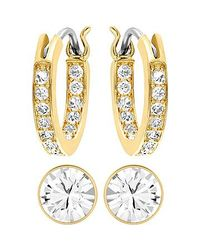 Swarovski | Metallic Canvas Earrings | Lyst