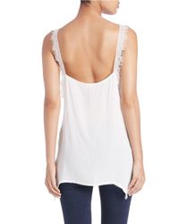 Free People | White Lace Strap Cami | Lyst