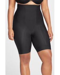 Tc Fine Intimates | Black Shaping High Waist Thigh Slimmer | Lyst