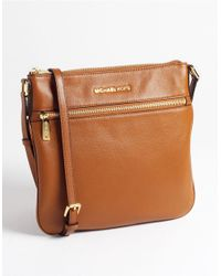 MICHAEL Michael Kors | Brown Bedford Flat Leather Crossbody Bag | Lyst
