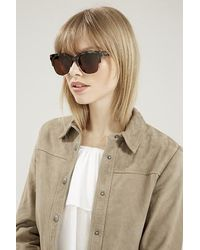 TOPSHOP | Brown Heartbeat Sunglasses By Quay | Lyst