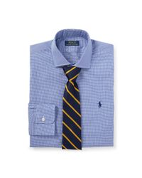Polo Ralph Lauren | Blue Slim Fit Button Down Point Collar Short Sleeve Shirt for Men | Lyst