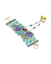 Betsey Johnson | Into The Blue Seashell Bead And Crab Charm Bracelet | Lyst