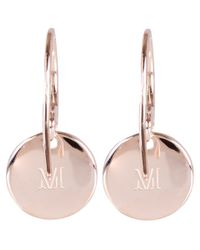 Monica Vinader | Metallic Rose Gold Vermeil Diamond Ava Drop Earrings | Lyst