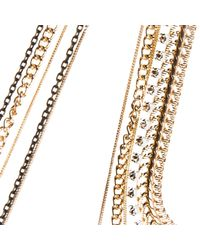 River Island | Metallic Gold Tone Multiple Chain Necklace | Lyst