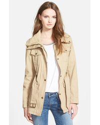 Guess | Natural Belted Utility Jacket | Lyst