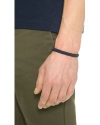 Caputo & Co. - Blue Hand Knotted Chevron Bracelet for Men - Lyst