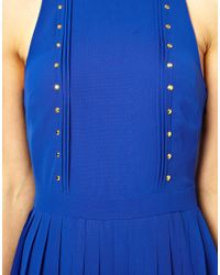 Oasis - Blue Studded Maxi - Lyst