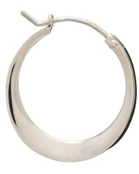 Dinny Hall - Metallic Silver Tapering Click Hoop Earrings - Lyst
