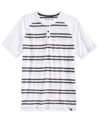 Hurley | White Dri-fit Henley T-shirt for Men | Lyst