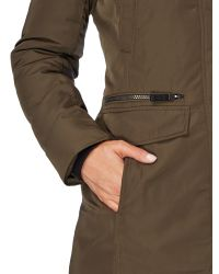 Andrew Marc | Green Long Padded Coat With Matte Finish | Lyst