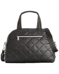 Calvin Klein | Black Cire Nylon Quilted Satchel | Lyst