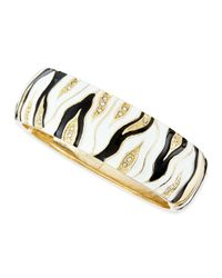 Sequin | Black Thick Zebra Enamel Bangle | Lyst