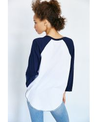 Truly Madly Deeply | Blue Zip Code Raglan Tee | Lyst