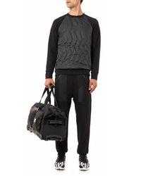 Christopher Raeburn - Black Quilted-front Sweatshirt for Men - Lyst