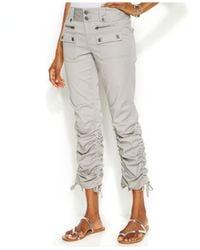 INC International Concepts - Blue Petite Ruched-Leg Cargo Pants - Lyst